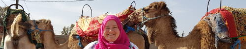 Camel-riding in Morocco